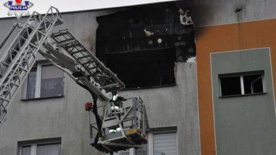 Pożar domu wielorodzinnego. Nie żyją dwie osoby (fot.Policja Lubelska)