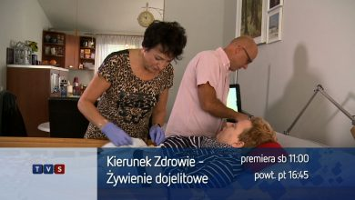 Odcinek programu KIERUNEK ZDROWIE, poświęcony w całości karmieniu dojelitowemu zobaczycie już w najbliższą sobotę, 17 listopada o godzinie 11.00 w Telewizji TVS
