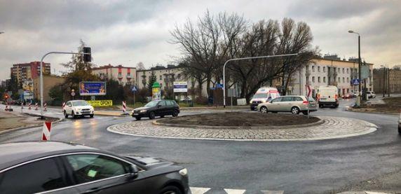 Pierwsze rondo w ulicy Grota-Roweckiego w Sosnowcu już gotowe