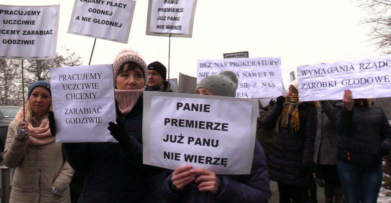 W czwartek 20 grudnia o godzinie 12.00 solidarnie wyszli m. in. przed siedzibę Prokuratury Okręgowej w Katowicach, wykorzystując 20-minutowe przerwy