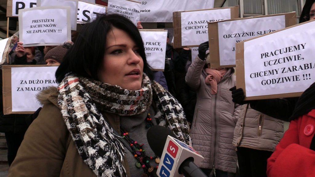 Zaprotestowali pracownicy Prokuratury Okręgowej w Katowicach. Nie tylko oni zresztą. Wyszli, bo domagają się podwyżek