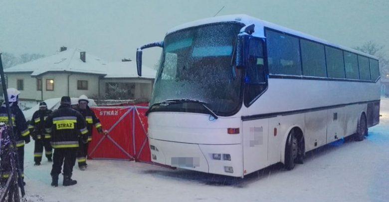 Kierowca autobusu potrącił 11-latka. Chłopiec zmarł (fot.KWP Gdańsk)