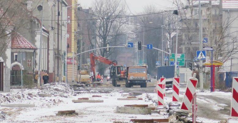 Wszystko wskazuje na to, że remont ul. Jagiellońskiej i Zabrskiej w Gliwicach przedłuży się do 2019 r.(fot.UM Gliwice)