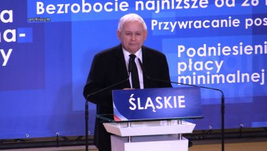 """""""Wierzę, że społeczeństwo wybierze naszą dobrą, polską zmianę"""". Konwencja PiS w Bielsku-Białej (fot.poglądowe)"""