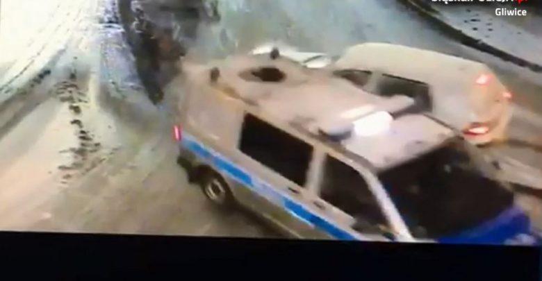 Gliwice: zderzenie z policją? I to dosłownie! [WIDEO] Pijany kierowca wjechał wprost w radiowóz!