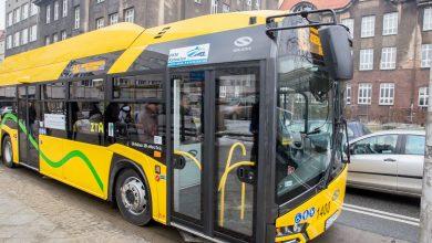 Elektryczny autobus marki Solaris wyjechał dziś w swoją pierwszą trasę po Katowicach (fot.UM Katowice)