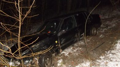Samochód spadł ze skarpy w Rybniku! [ZDJĘCIA] Kierowca trafił do szpitala(fot. KMP Rybnik)