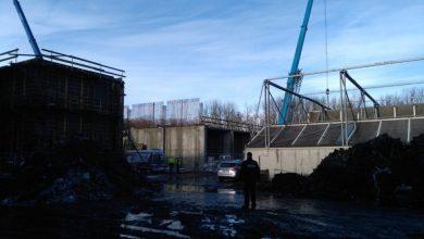 Tragedia na budowie w Zabrzu [ZDJĘCIA] Mężczyzna spadł w wysokości 5 metrów! (fot. KMP Zabrze)