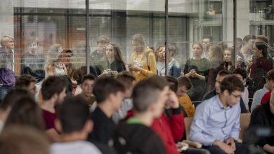 Tyska młodzież przeciwko nienawiści. Spotkanie z Szymonem Hołownią (fot.Michał Janusinski)