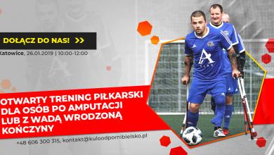 Amp futbol w Katowicach. Otwarty trening piłkarski odbędzie się 26 stycznia w Kopalni Futbolu (fot.Kuloodporni)