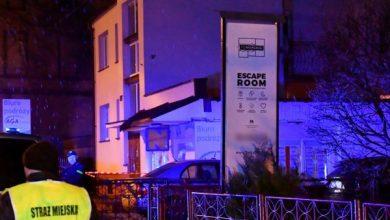 Koszalin w żałobie po śmierci 5 osób w pożarze w escape roomie (fot. TVP Info)