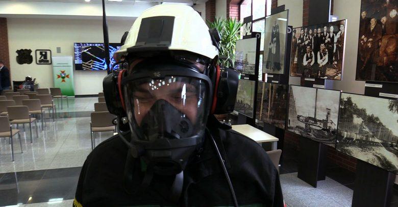 System RESYS dzisiaj sprawdzany był na kopalni Pokój w Lędzinach. Ratownicy symulowali pożar w wyrobisku ślepym