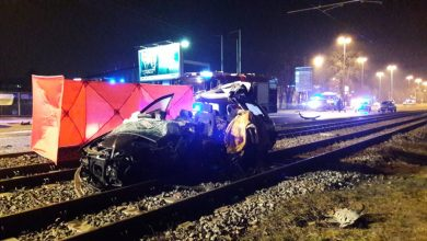 Pijany 52-latek jechał po mieście 140 km/h. Zabił kierowcę toyoty [FOTO] (fot. KMP Łódź)