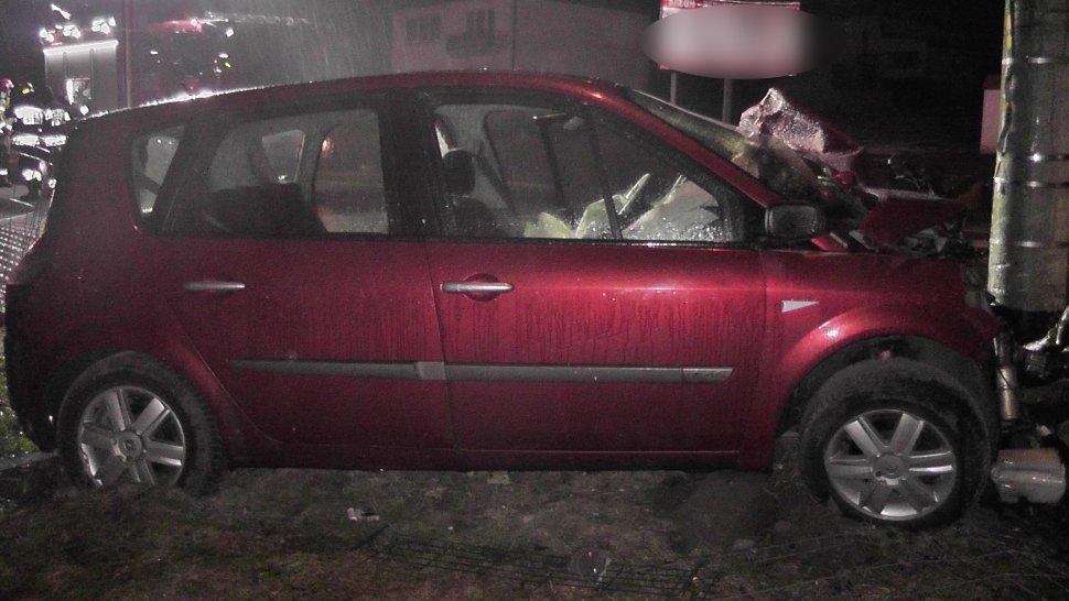 Groźny wypadek w Świerklańcu! [ZDJĘCIA] Czy kierowca był pijany? (fot. KMP Tarnowskie Góry)