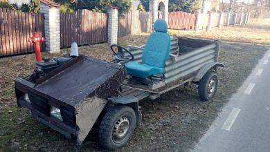 Skonstruował własny pojazd i jeździł nim mając 3 promile alkoholu w organizmie [ZDJĘCIA] (fot. Policja Lubelska)