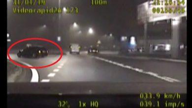 Kierowca BMW dał gapiom popis swoich umiejętności na rondzie. Odstawił popisowy drift na rondzie. Nie wiedział tylko, że na ogonie ma radiowóz policji