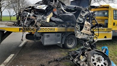 Tragiczny wypadek 22-letniego kierowcy BMW [ZDJĘCIA] (fot. Policja Lubuska)