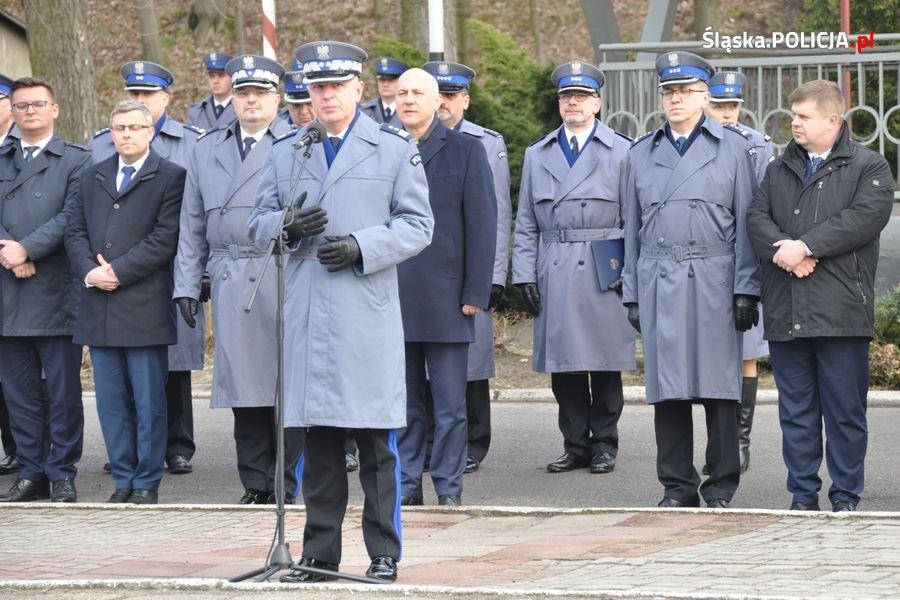 W uroczystości wziął udział minister Joachim Brudziński, szef Ministerstwa Spraw Wewnętrznych i Administracji (fot.KWP Katowice)