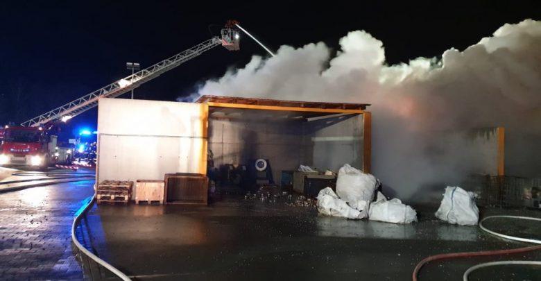 Śląskie: Pożar składowiska odpadów w Wilkowicach [FOTO] (fot.KMP Bielsko-Biała)