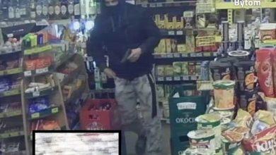 Napad z bronią w ręku na sklep w Bytomiu! Policja publikuje ZDJĘCIA! (fot. KMP Bytom)