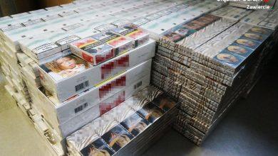"""Zawiercie: Sprzedawał papierosy w sklepie zoologicznym. Towar mieli kupować """"zaufani"""" klienci (fot. Śląska Policja)"""