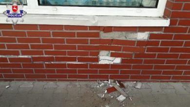 Odebrała praw jazdy i od razu uderzyła w ścianę marketu (fot. Policja Lubelska)
