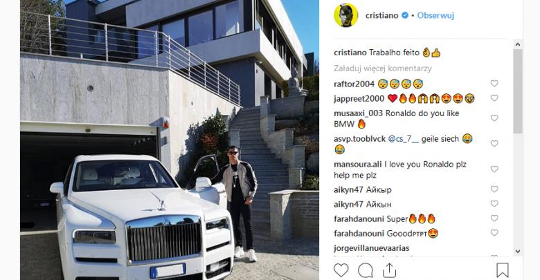 Samochody Ronaldo (fot. instagram cristiano)