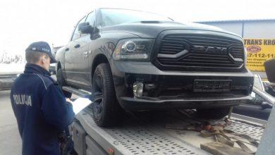 Skradziony w Bielsku-Białej samochód odnaleziono aż w Łodzi. Dodge RAM został utracony w marcu tego roku (fot.KWP Łódź)