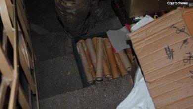 32-letni mieszkaniec Częstochowy miał w wynajmowanym przez siebie domu prawdziwy arsenał