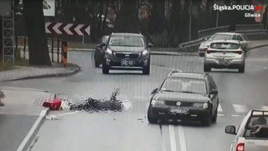 Gliwice: Nie zauważył 73-latki przechodzącej przez pasy [ZDJĘCIA] Kobieta trafiła do szpitala (fot. KMP Gliwice)