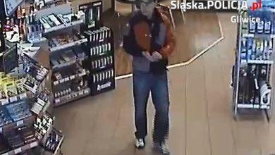 Gliwice: Dokonał kradzieży na stacji benzynowej, później pobił pracownika. Ktoś go rozpoznaje? (fot.KMP Gliwice)
