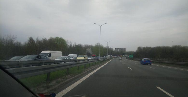 Wypadek na DTŚ w Świętochłowicach [ZDJĘCIA] Gigantyczny korek w stronę Gliwic