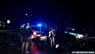"""""""Płomienny rajd"""" 26-latka kradzionym BMW (fot.Policja Świętokrzyska)"""
