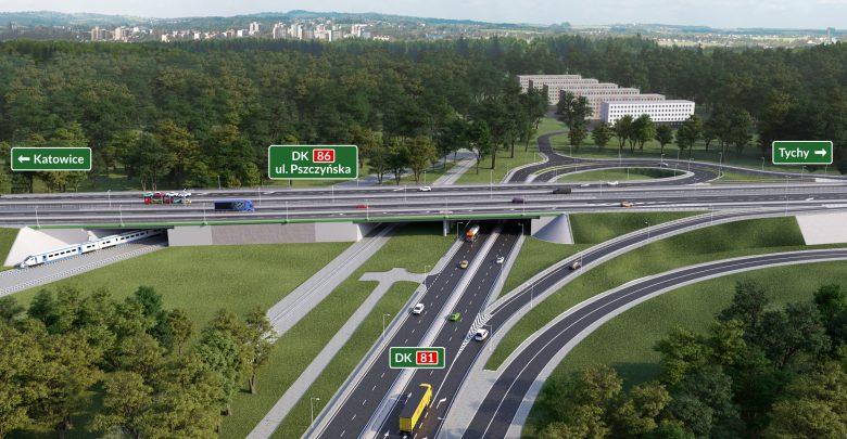 Liczne przebudowy dróg w Katowicach. Od jutra zmiany na DK81 (fot.UM Katowice)