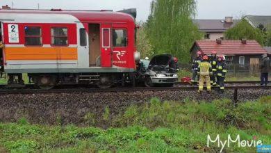 O włos od tragedii w Andrychowie! Kobieta wjechała samochodem osobowym wprost pod jadący pociąg! Zdjęcie pochodzi z kanału mamNewsa/youtube.com