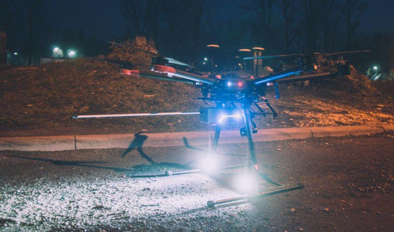Pod koniec marca strażnicy przeprowadzili niestandardowe badanie niskiej emisji przy użyciu bezzałogowej platformy latającej Nosacz (fot.Straż Miejska Katowice)