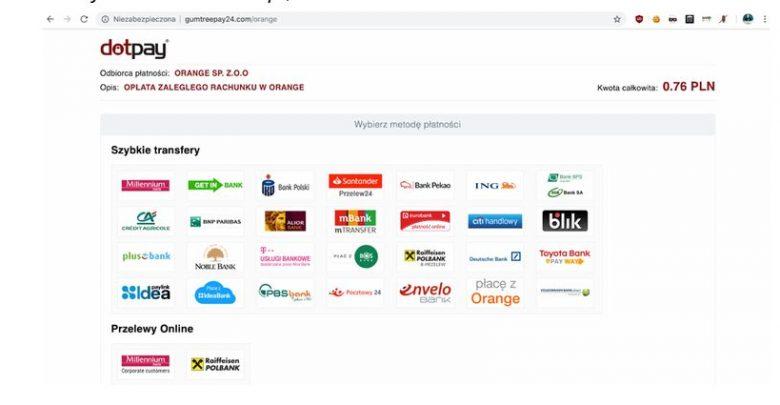 Uważajcie na fałszywe strony udające pośredników szybkich płatności!!! (fot.policja.pl)
