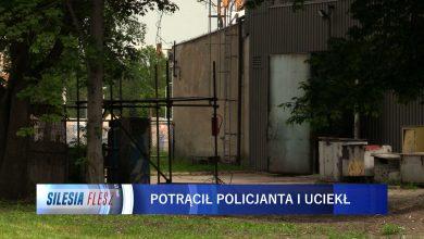 Policyjna obława w Katowicach. Poszukiwany kierowca seicento, który potrącił policjanta [WIDEO] (fot.mat.TVS)