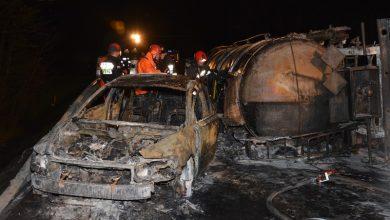 Masakra! Samochody w ogniu, kilka osób poszkodowanych w szpitalu (fot. Policja Podkarpacka)