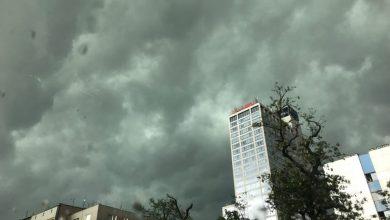 Czarne chmury i potężna burza nad Katowicami! (fot.Paweł Jędrusik)