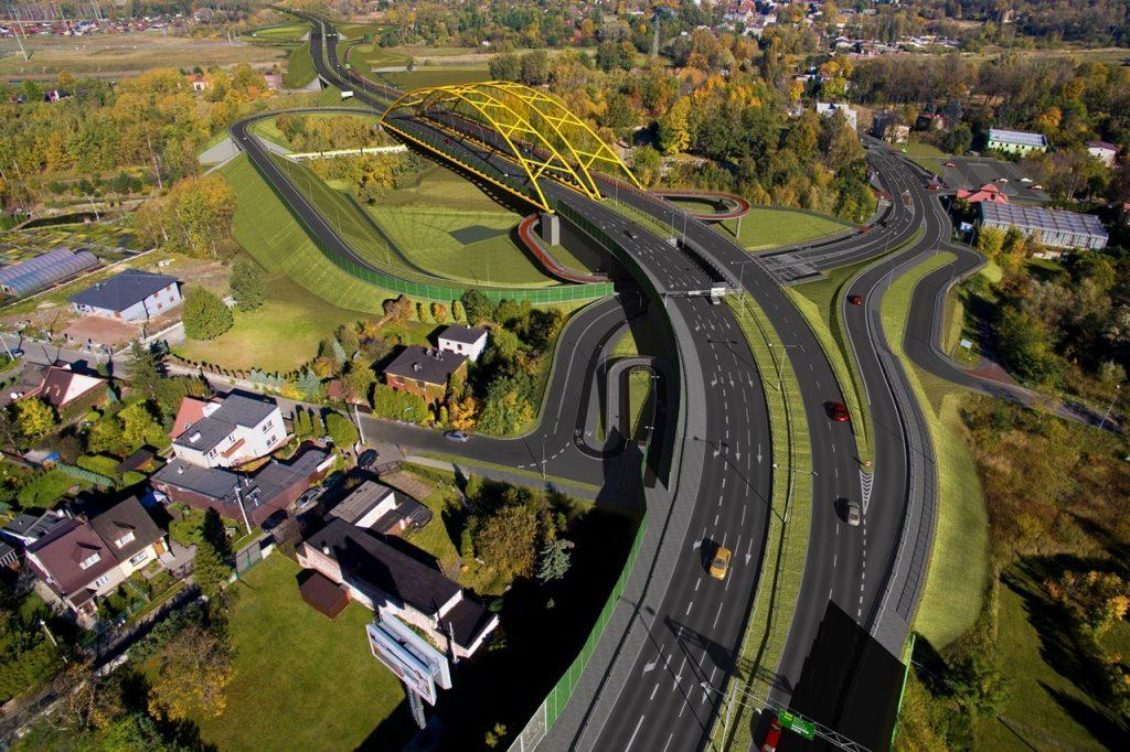1,7 km odcinek trasy N-S, na który miasto ogłosiło przetarg, jest ostatnim etapem budowy trasy pomiędzy DTŚ a autostradą A4 Do tej pory wybudowano już 3,4 km trasy, którą można dojechać od DTŚ do węzła z ul. Kokota w Bielszowicach