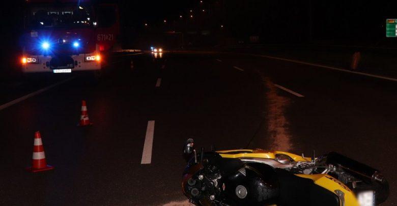 Zabrze: Śmiertelny wypadek motocyklisty na DTŚ (fot.KMP Zabrze)