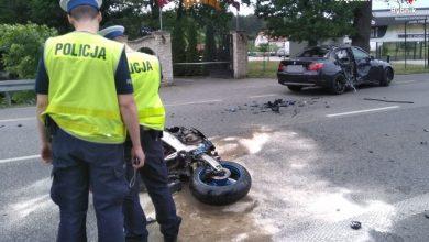 Rybnik: Tragiczny wypadek motocyklisty. Do szpitala trafiła 4-letnia dziewczynka (fot.KMP Rybnik)