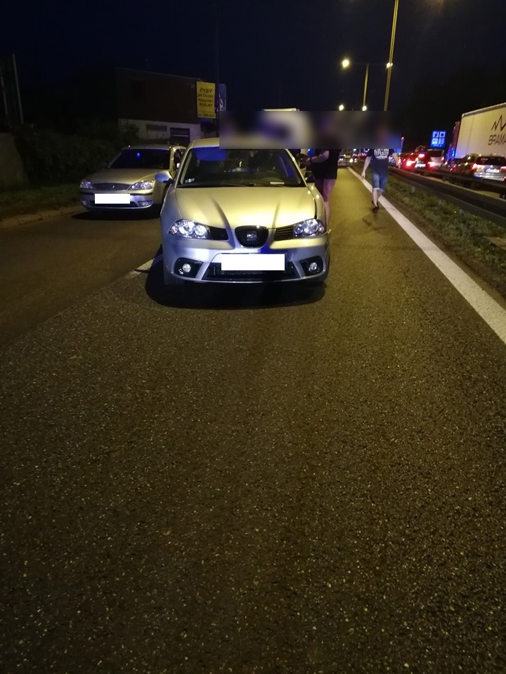 Śląskie: Potężny karambol na DK 1 w stronę Warszawy! TIR jechał pod prąd, są ranni! (fot.www.facebook.com/Bedzin112)