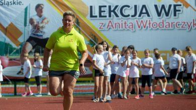 Każdy może zostać mistrzem, czyli magiczna lekcja WF-u z Anitą Włodarczyk! (fot.slaskie.pl)