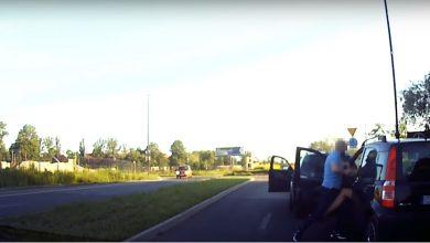 Agresywny kierowca w Rudzie Śląskiej! Zaatakował na zjeździe z DTŚ [WIDEO]