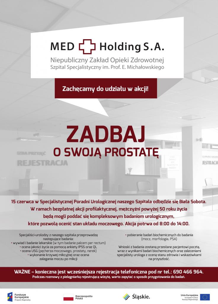 Biała Sobota. Bezpłatne badania prostaty w Katowicach 15 czerwca (fot.mat.prasowe)
