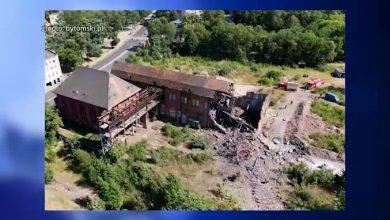 SZOK! Zawalił się komin dawnej kopalni Rozbark! [ZOBACZ WIDEO]