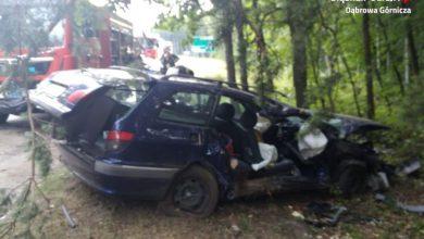 Tragiczny wypadek w Dąbrowie Górniczej [ZDJĘCIA] Kierowca był kompletnie pijany!