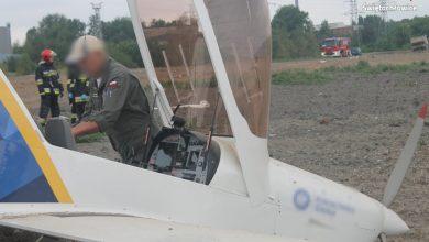 Leciał do Gliwic, wylądował w Świętochłowicach. Nowe fakty awaryjnego lądowanie samolotu przy DTŚ (fot. Śląska Policja)